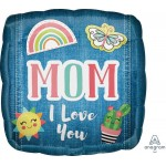 Anagram 18 Inch Mom I Love You Patches