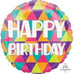 Anagram 17 Inch Colorful Triangles Happy Birthday
