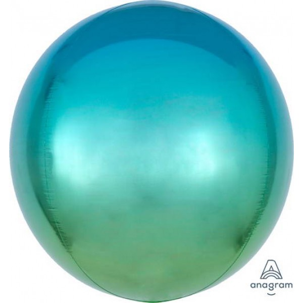 ORBZ Foil - Anagram Ombre Orbz Blue And Green Balloon
