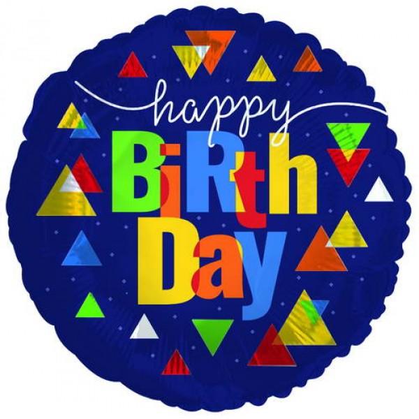 Birthday Balloons - CTI 18 Inch Happy Birthday GEO Pop