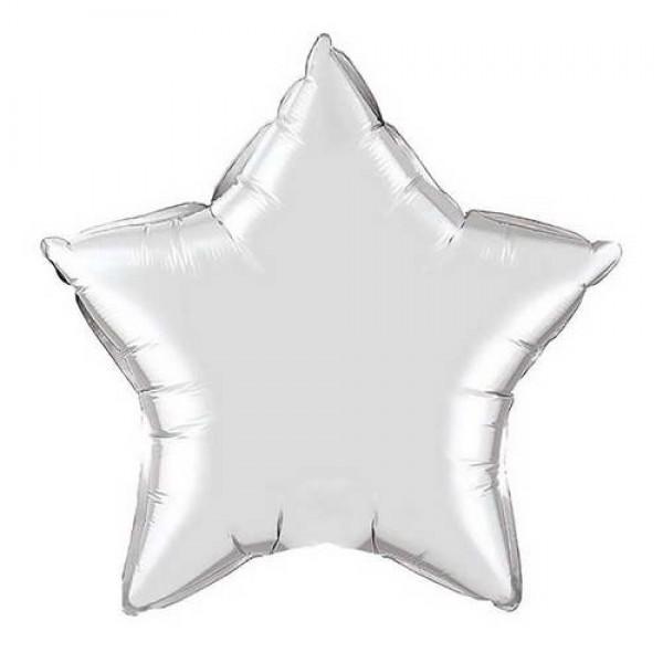 Stars Shape Balloons - Mytex 18 Inch Star White ~ 5pcs