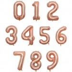 Premium 30 Inch Jumbo Number 0-9 Rose Gold Balloon