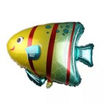 Supershape 31 Inch Under The Sea Striped Fish Foil Balloon