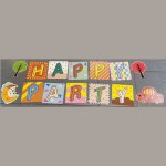 Happy Party Letter Banner ~ Tree/Car/Moon