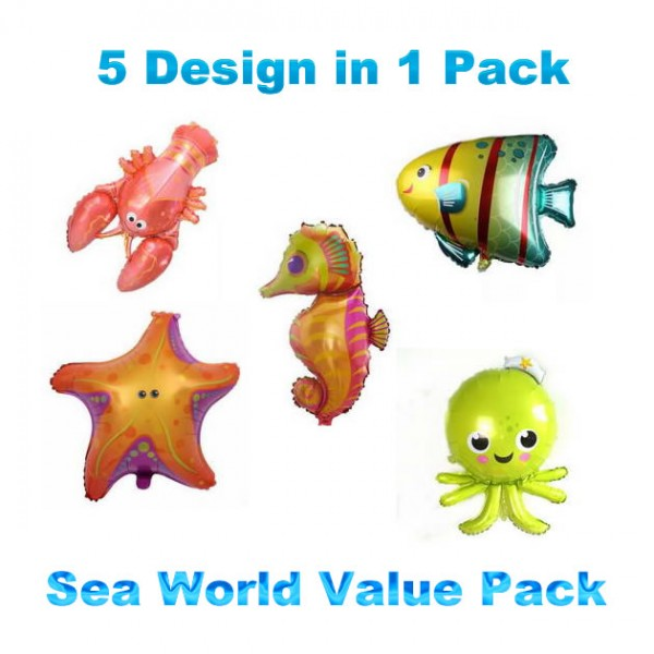 Animals Balloons - SuperShape Sea World 5 in 1 Package