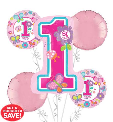 1st Birthday Balloon Bouquet 5pc