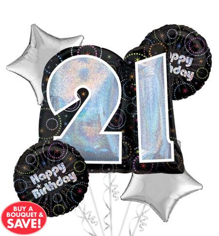 21st Birthday Balloon Bouquet 5pc