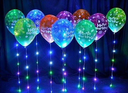 Flashing Colorful Led Balloon Light 10 Pcs From
