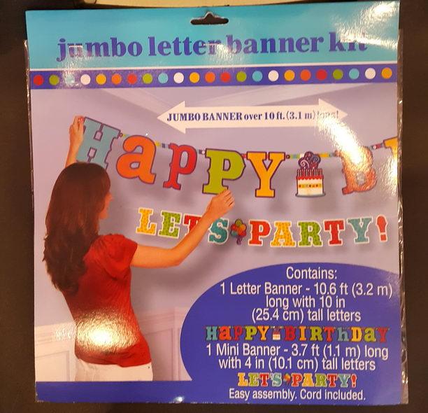 Trolls Happy Birthday Banner We Can Easily Add An: Amscan Jumbo Letter Banner Kit Happy Birthday Cake