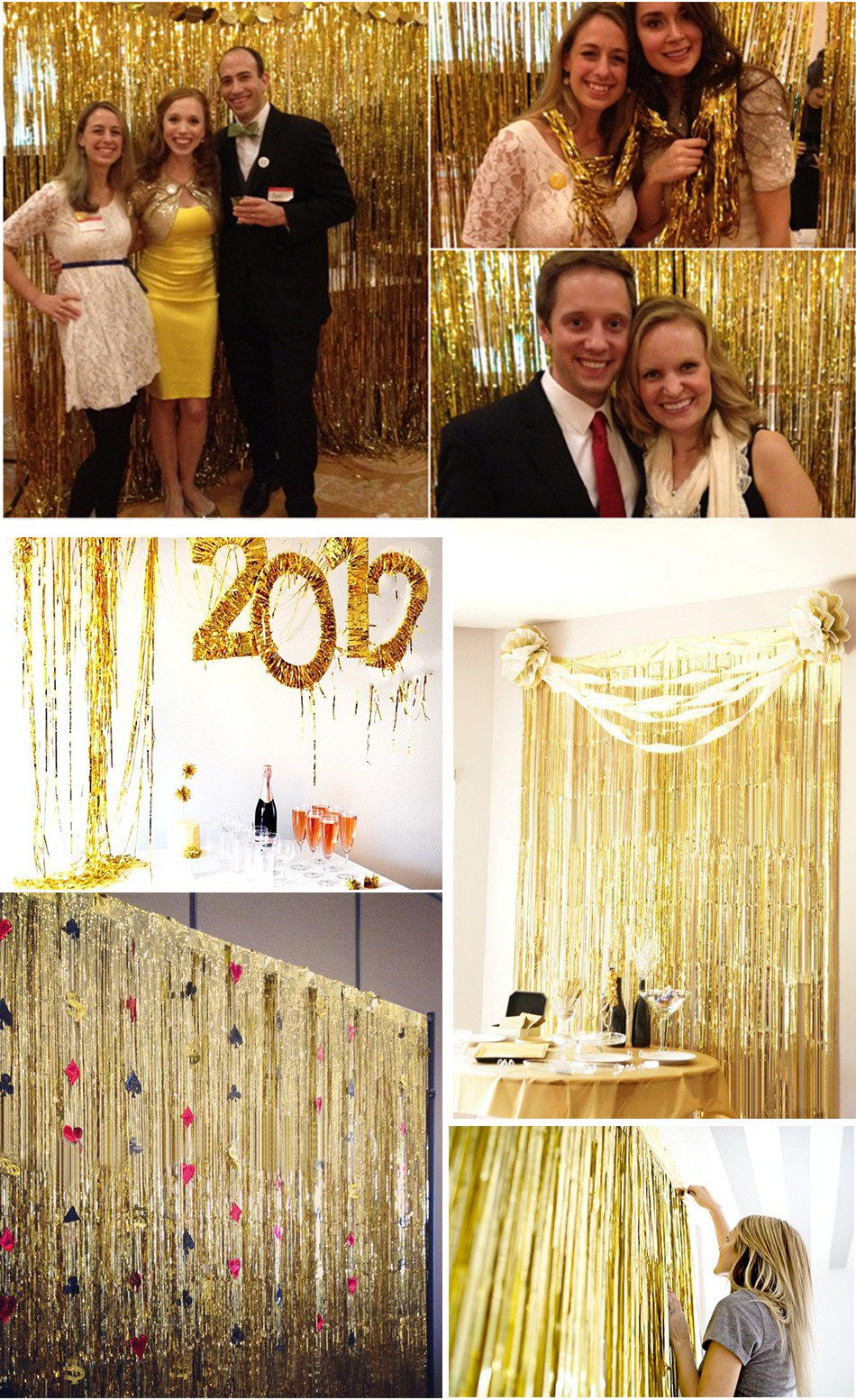 Foil Tinsel Party Curtain Backdrop Photo Shooting