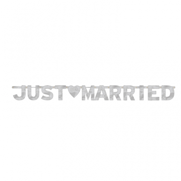 Amscan Just Married Foil Letter Banners M  From Category Wedding