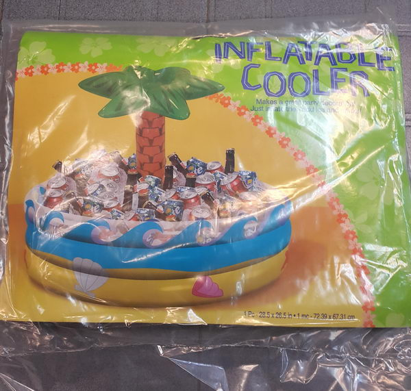 Amscan 28 5 X 26 5 Inch Palm Tree Inflatable Cooler From