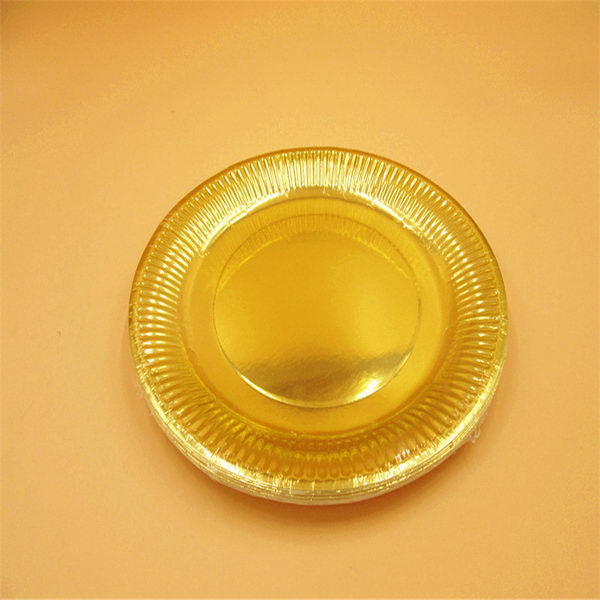 Gold Color Plates & Gold Silver 9 Party Paper Plates ~ 10pcs - from category Tableware ...