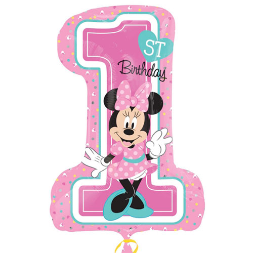 Anagram 19 X 28 Inch Minnie 1st Birthday