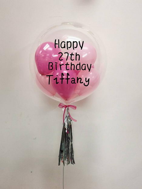 24 Inch Bubble Balloon With Custom Design Helium And Delivery