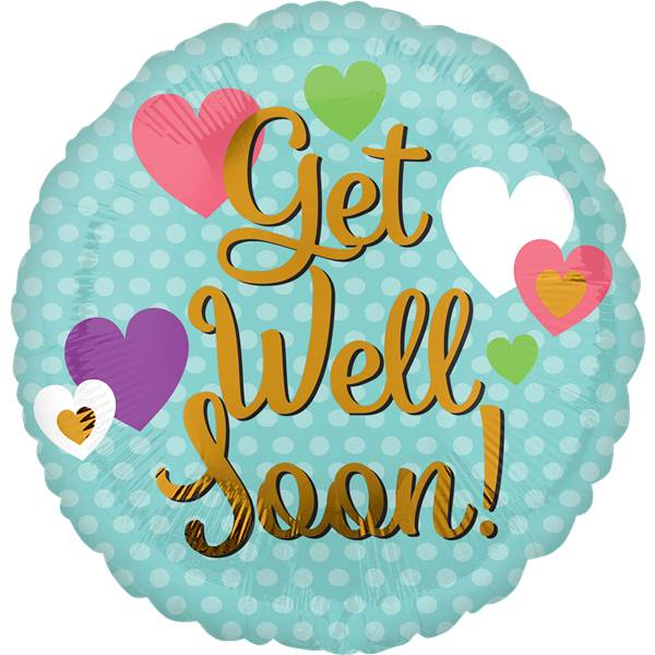 Anagram 18 inch get well soon hearts from category get well balloons balloonmalaysia com
