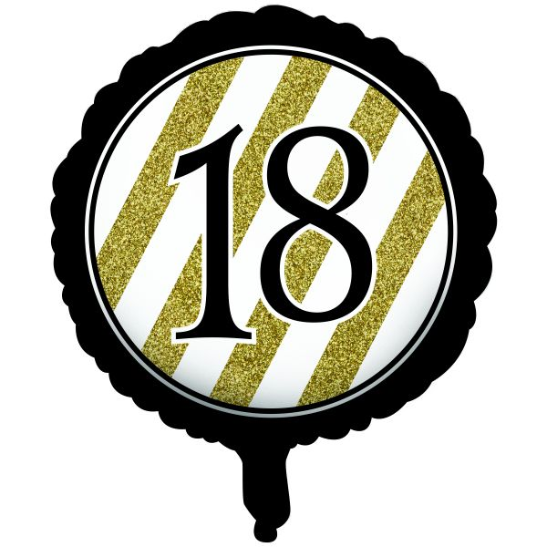 CTI 17 Inch Happy 18th Birthday Black And Gold